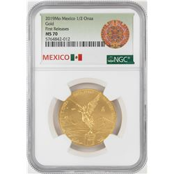 2019Mo Mexico 1/2 Onza Gold Coin NGC MS70 Early Releases