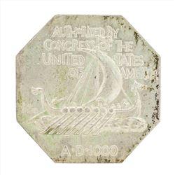 1925 Norse American Centennial Silver Medal Thick