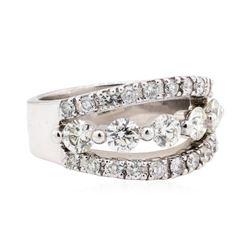 14KT White Gold 1.95 ctw Diamond Wedding Band
