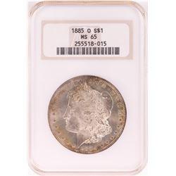 1885-O $1 Morgan Silver Dollar Coin NGC MS65 Nice Toning Old Holder