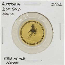 2002 $25 Australia Year of the Horse 1/4 oz. Gold Coin