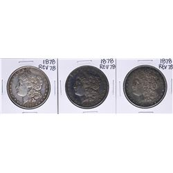 Lot of (3) 1878 Reverse of 78' $1 Morgan Silver Dollar Coins
