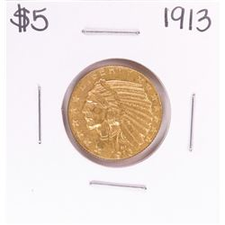 1913 $5 Indian Head Half Eagle Gold Coin