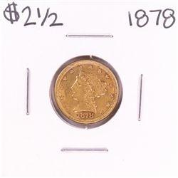 1878 $2 1/2 Liberty Head Quarter Eagle Gold Coin