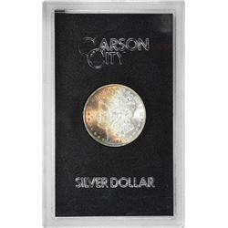 1884-CC $1 Morgan Silver Dollar Coin GSA Hoard Amazing Toning