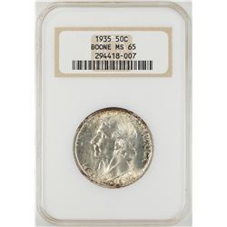 1935 Boone Commemorative Half Dollar Coin NGC MS65