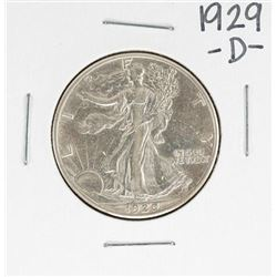 1929-D Walking Liberty Half Dollar Coin