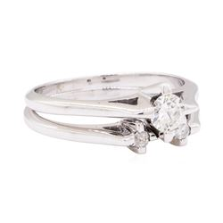 14KT White Gold 0.40 ctw Diamond Wedding Set