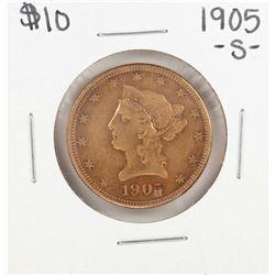 1905-S $10 Liberty Head Eagle Gold Coin