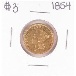 1854 $3 Indian Princess Head Gold Coin