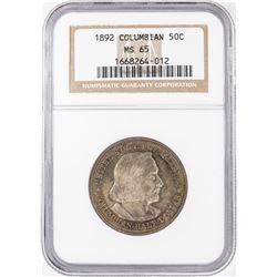 1892 Columbian Centennial Commemorative Half Dollar Coin NGC MS65