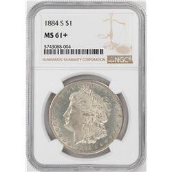 1884-S $1 Morgan Silver Dollar Coin NGC MS61+