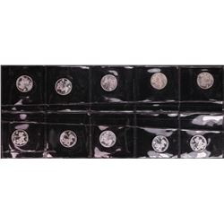 Lot of (10) Disney Mickey & Minnie Mouse Golfer 1/20 oz. .999 Fine Silver Coin Rounds