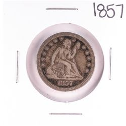 1857 Seated Liberty Quarter Coin