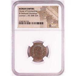 Licinius I, AD 308-324 BI Reduced Nummus Ancient Roman Empire Coin NGC Certified