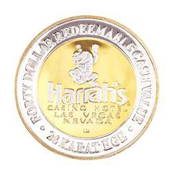 .999 Silver Harrah's Casino Las Vegas, Nevada $40 Casino Limited Edition Gaming Token
