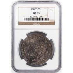 1882-S $1 Morgan Silver Dollar Coin NGC MS65