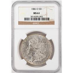 1886-O $1 Morgan Silver Dollar Coin NGC MS63