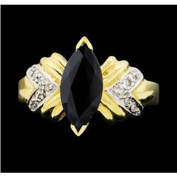 14KT Yellow Gold Ladies 2.00 ctw Sapphire and Diamond Ring