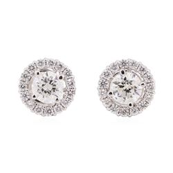 14KT White Gold 1.98 ctw Diamond Earrings
