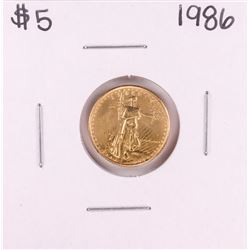 1986 $5 American Gold Eagle Coin