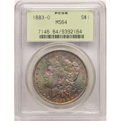 1883-O $1 Morgan Silver Dollar PCGS MS64 Amazing Toning Old Green Holder