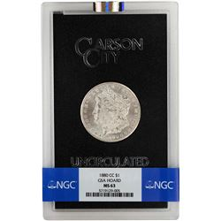 1880-CC $1 Morgan Silver Dollar Coin GSA NGC MS63