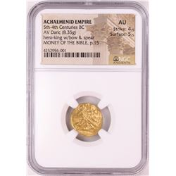 Achaemenid Empire 5th-4th Century BC Daric Ancient Gold Coin NGC AU Money of the Bible