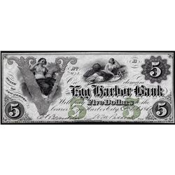 1861 $5 Egg Harbor Bank State of New Jersey Obsolete Note