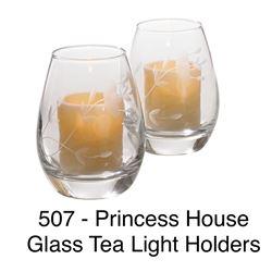 Glass Tea Light Holders #507