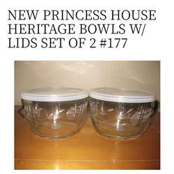 Heritabe Bowls w/ Lids set of 2 #177