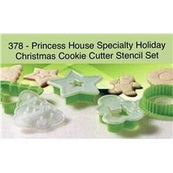 Speciality Holiday Christmas Cookie Cutter Stencil Set #378
