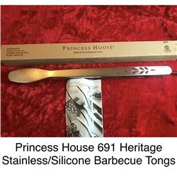 Heritage Stainless/Sillicone Barbeque Tongs #691