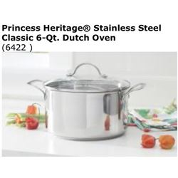 Heritage Stainless Steel Classic 6qt Dutch Oven #6422