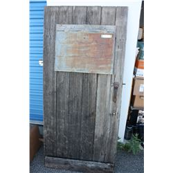 """Vintage Wooden Door 32"""" W by 69.5"""" T by 2.5"""" D"""