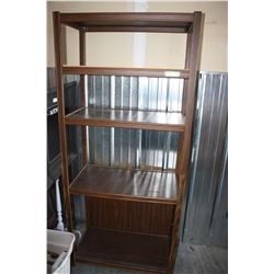 """2X THE MONEY - Wooden Shelving Units (2 Parts each) 32"""" W by 72"""" T by 16"""" D (1 Missing Shelf)"""