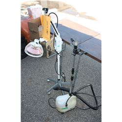 Heat Lamp (Timer Works May Need New Bulb) and SteamFast Steamer (Working)