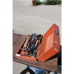 Wooden Tool Box with Hand Tools