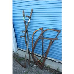 2 Scythes (1 Incomplete) and 3 Bucksaws