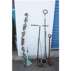 Mixed Lot of Iron Items