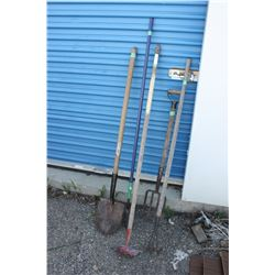 Mixed Lot of 5 Garden Tools