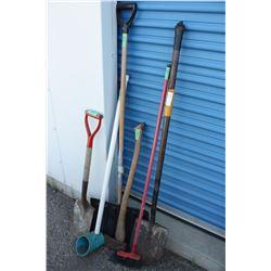Mixed Lot of 6 Garden Tools