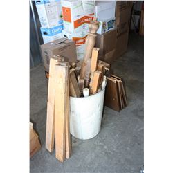 Bin of Spindles and Misc Wood