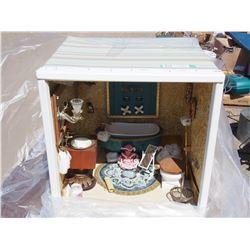 Shadow Box of Doll Toys