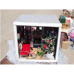 Shadow Box Christmas Themed - Lights Up
