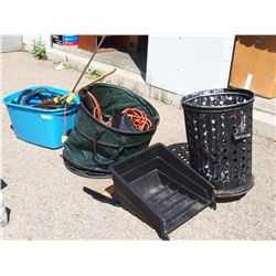 Tote Cords, Hedge Trimmer and Grass Box