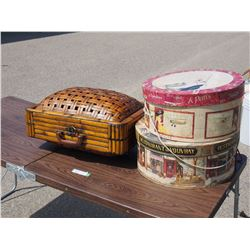 Wicker Suitcases, Hat Boxes and Silk Scarves