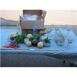 Lot of Misc Decorative Items and Plastic Bags