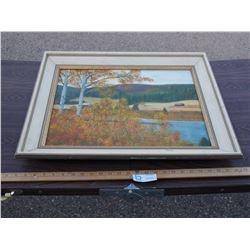 "Oil Painting on Canvas - Manderscheid 1986 25 by 21"" W"