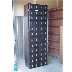 "4 Door Storage Cabinet 25 by 12 by 71"" T"